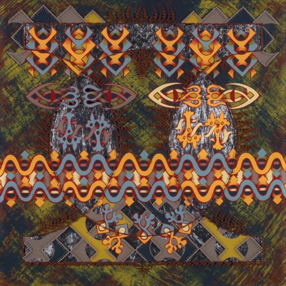 "Tara Austin ""Boreal VI"", acrylic on plexiglass, 24"" x 24"", 2020"